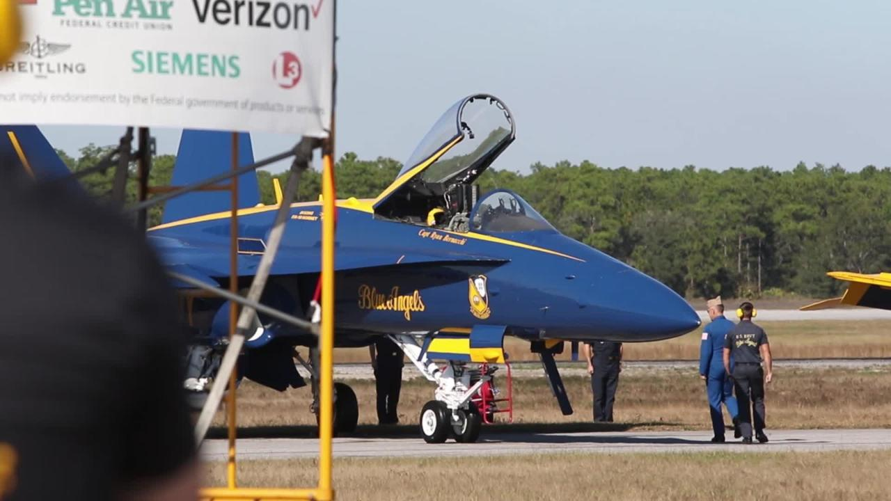 Watch: Blue Angel pilots get ready for take-off