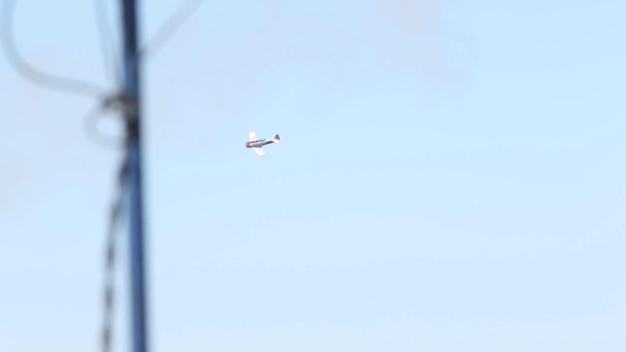GEICO Skytypers perform aerobatics during homecoming show