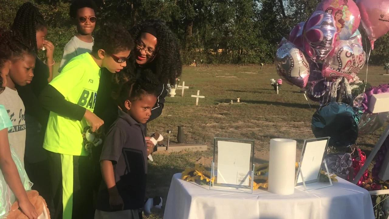 A memorial was held for 9-year-old Dericka Lindsay Thursday, Nov. 16, 2017. She died after her cousin sat on her as punishment Oct. 14.