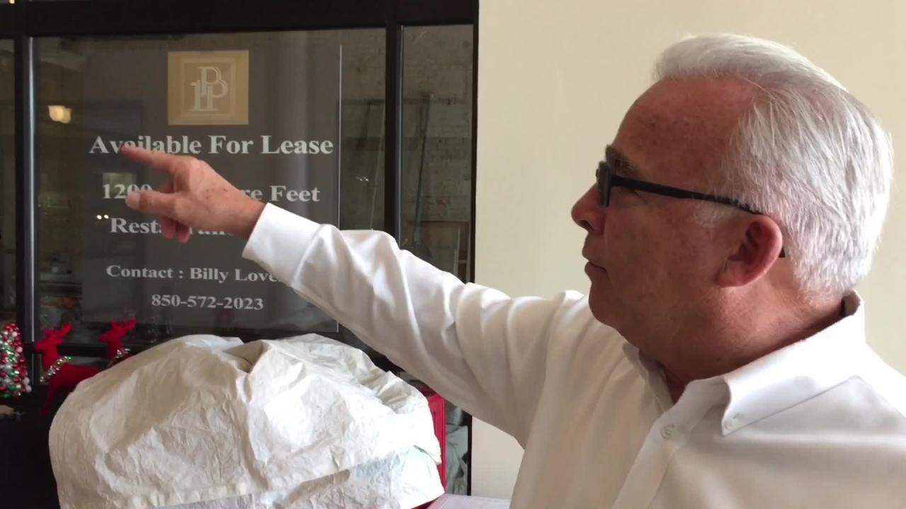 Bobby Switzer, One Palafox Place LLC managing partner, introduces the new breezeway at One Palafox Place in downtown Pensacola. (Joseph Baucum/jbaucum@pnj.com)