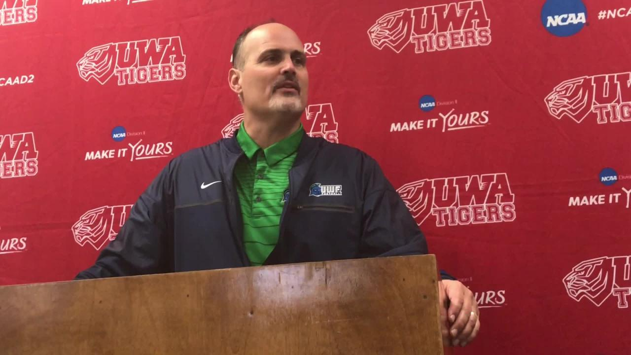 Reaction from head coach Pete Shinnick and UWF players after a stunning 28-21 win over conference champion West Alabama sends UWF to the Division II national semifinals.