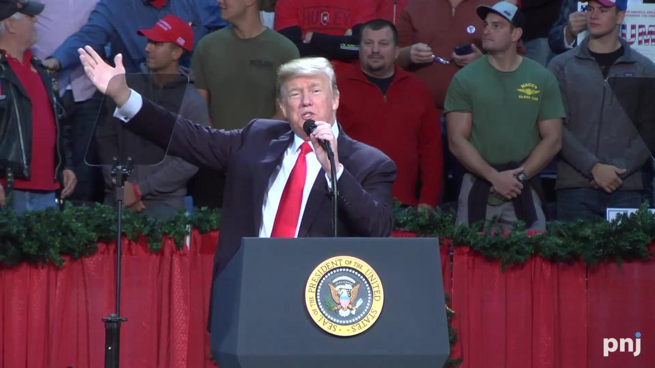 President Donald Trump spoke for nearly an hour and twenty minutes, addressing everything from the war on terrorism to the war on Christmas.