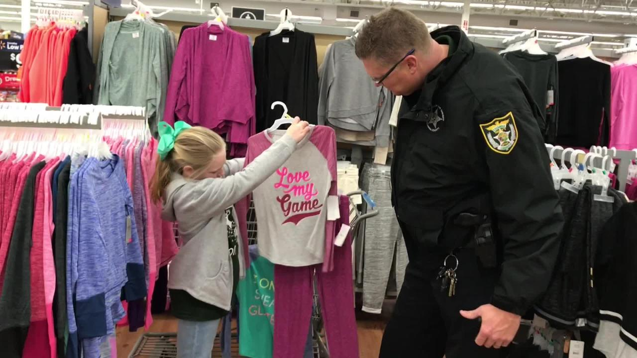 The Escambia County Sheriff's Office took 64 area  children on shopping sprees Friday. Each child received a $200 gift card. Students were chosen by school officials based on need.