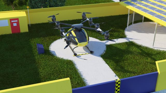 Renderings were unveiled for a conceptual flying taxi in Pensacola.