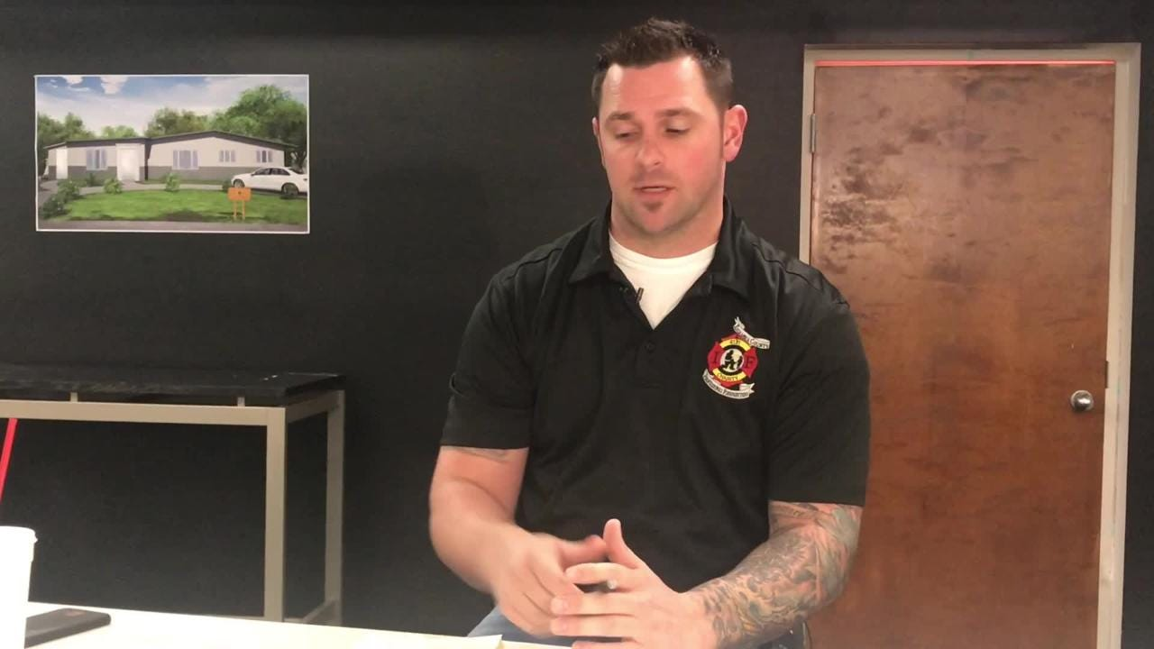 Escambia County Professional Fire Fighters President Nick Gradia explains how the charity needs the community's help to renovate a home for displaced families.