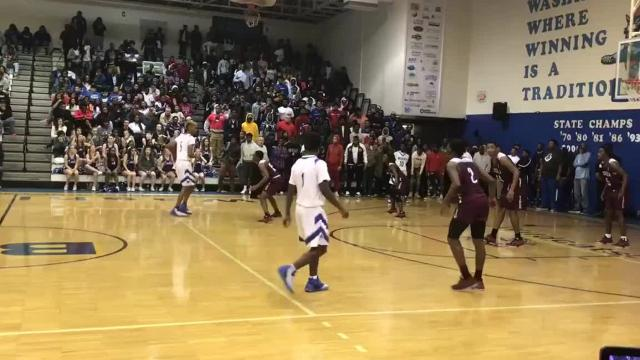 Washington senior Michael Randolph Jr. hit a game-winning 3-pointer with less than 30 seconds to play to lift the Wildcats over rival Pensacola 69-67 on Jan. 5, 2018.