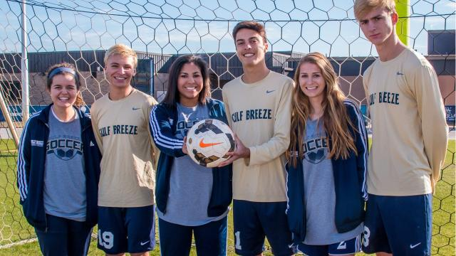 Gulf breeze is home to not one, but two state No. 1 soccer teams as the Dolphins' boys and girls teams have been rolling this season.