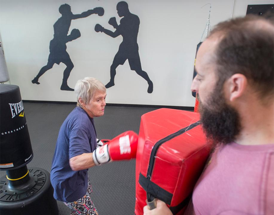 Those fighting Parkinson's disease are gaining strength, combating fear, and rebuilding confidence through boxing class at Rock Steady Boxing Emerald Coast in Gulf Breeze. Friday, January 12, 2018.