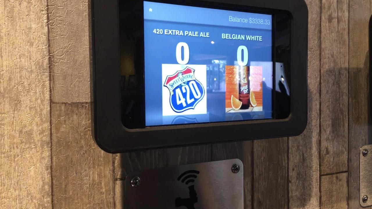 How the unique, new beer bay works at Boatyard Bar and Grill