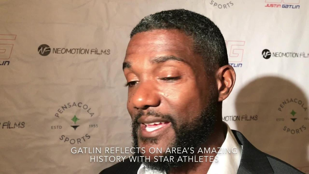 World track star Justin Gatlin discusses return to Pensacola and area's history with great athletes