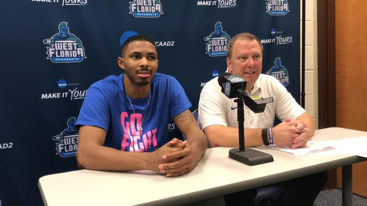 The UWF men's basketball team adds latest feat with GSC Tournament home win to improve to 26-3