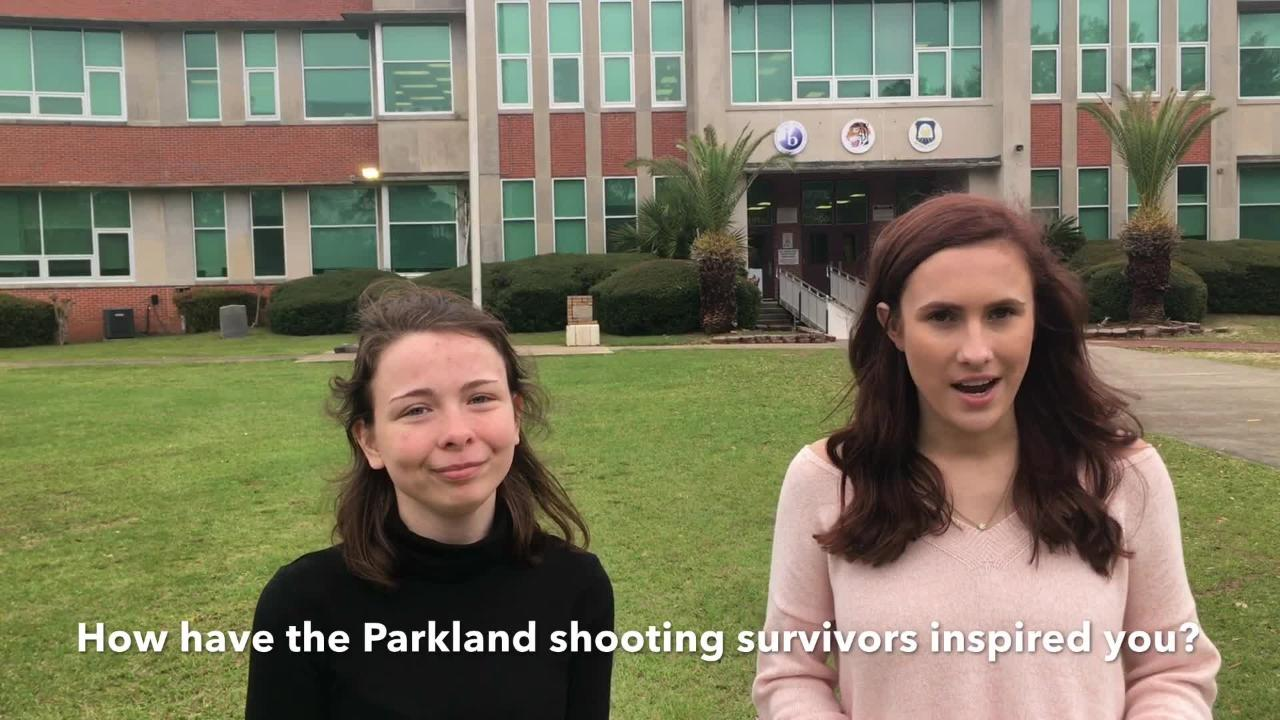 Pensacola High School seniors Lauren Hagy and Sara Buchanan talk about the upcoming walkout at PHS and why they feel inspired by the Parkland shooting survivors.