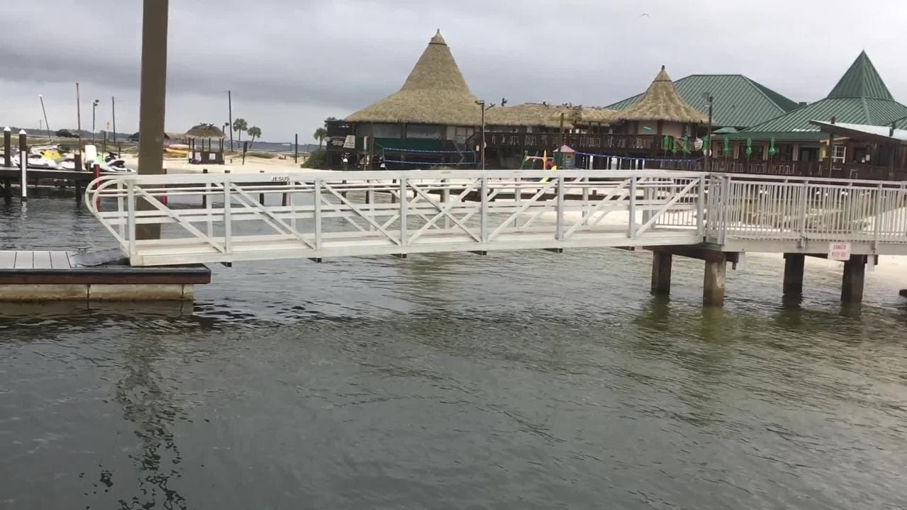 Juana's Pagodas owner Kevin Rudzki says he doesn't think the mysterious new floating structure behind his restaurant will fare too well financially.