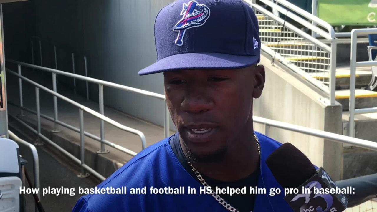 Shed Long has a diverse athletic history, but is now focused on being a dominant infielder for the Blue Wahoos.