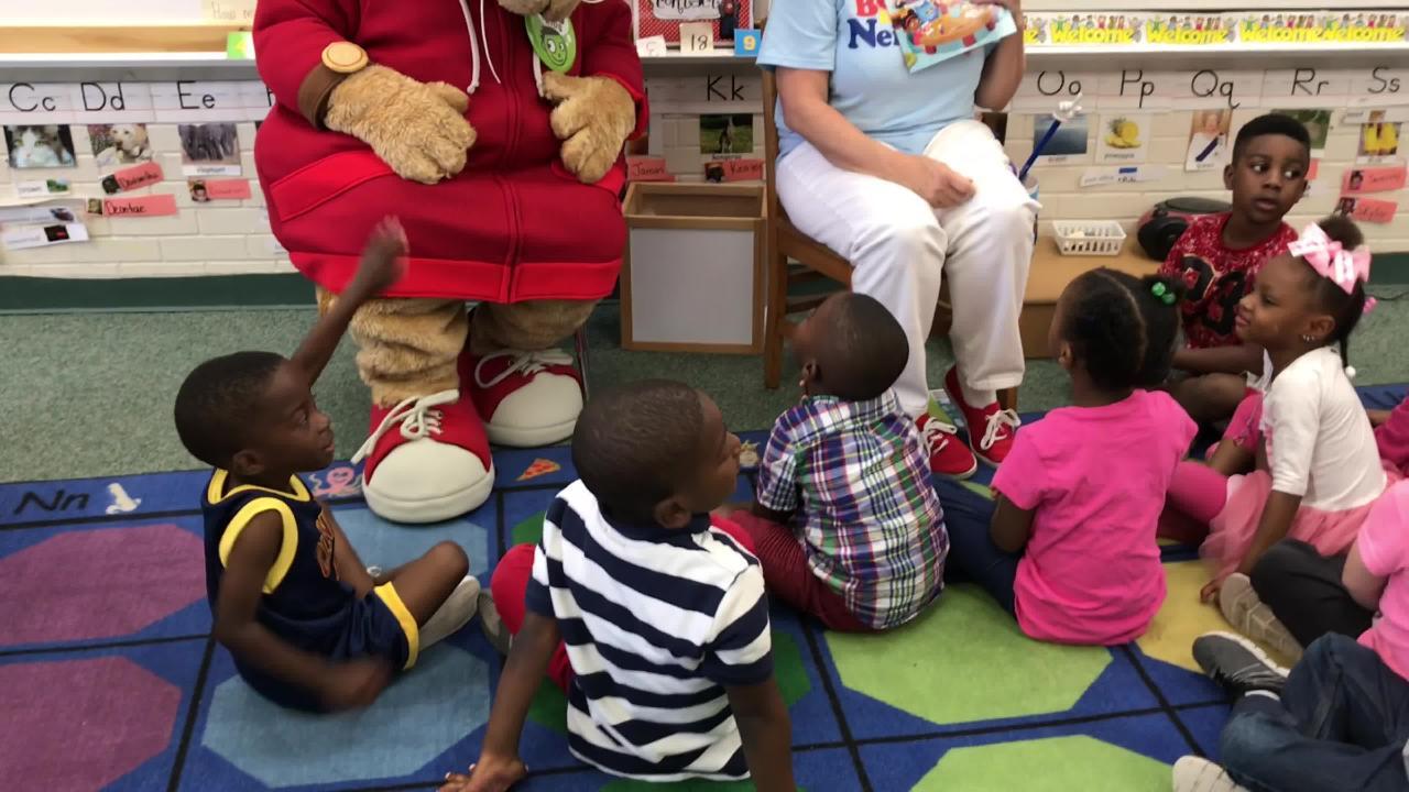 Daniel Tiger visits Montclair Elementary