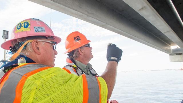 Inspector says Pensacola Bay Bridge cracks are routine
