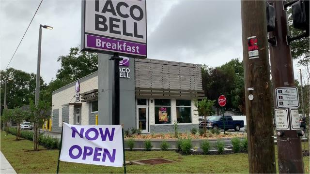The controversial Taco Bell in East Hill has finally opened, and just in time for Taco Tuesday.