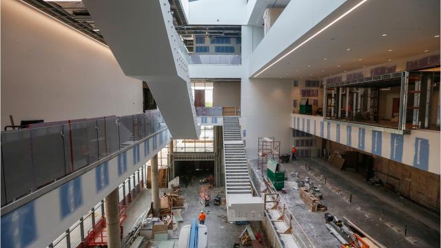 MSU's Glass Hall renovation