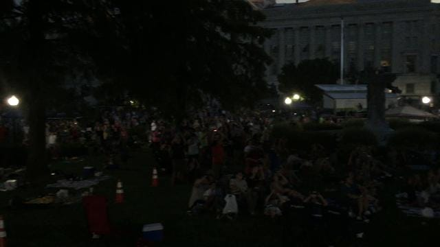 The solar eclipse reaches totality in Jefferson City, Missouri on Aug. 21, 2017