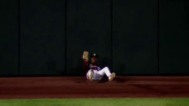 Springfield Cardinals outfielder Magneuris Sierra made a twisting catch in the outfield against Corpus Christi.