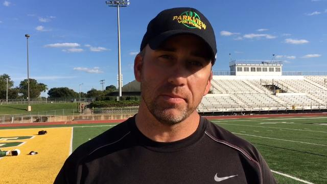 Parkview coach Paul Hansen said he's been blown away by the stats Blake Delacruz has put up this season.