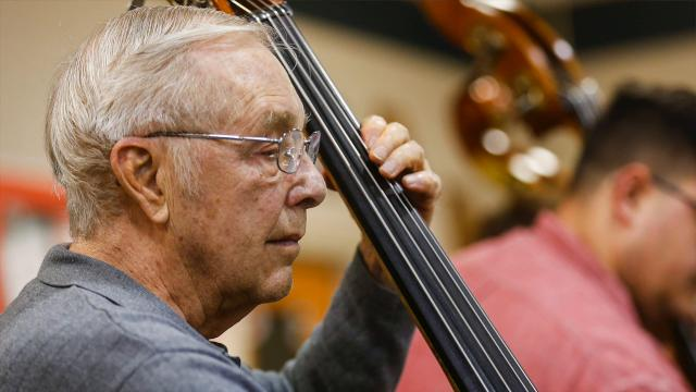 Tommy Zongker has been playing with the Springfield Symphony Orchestra for 65 years.