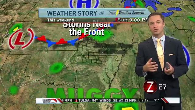 A look at the Ozarks' forecast and when you can expect to see showers and thunderstorms, from KOLR-10's Wes Peery.