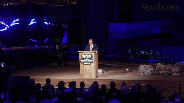 Kevin Costner, former Presidents Jimmy Carter and George W. Bush, and many others helped Johnny Morris open the Wonders of Wildlife National Museum and Aquarium at a gala event Wednesday, Sept. 20, 2017.