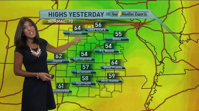 Morning forecast for Thursday, Oct. 12