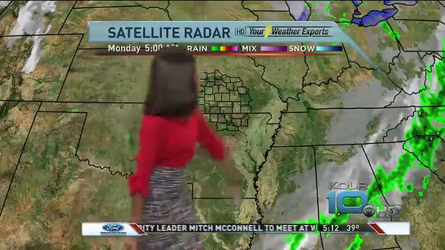 Morning forecast for Monday, Oct. 16
