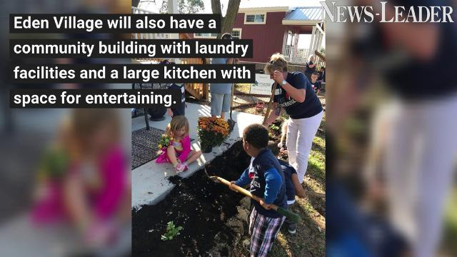 Shady Dell preschoolers plant flowers for their future neighbors at Eden Village