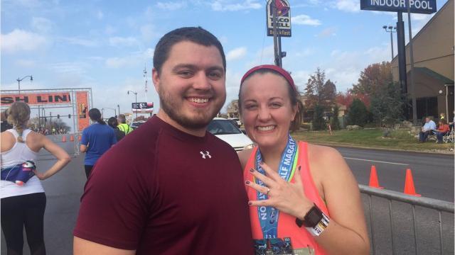 Allison Locke didn't know her boyfriend Joel Clendenin was waiting for her with a ring.