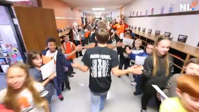 The Republic High School soccer team gets an energetic send off on their way to the state championship final four.