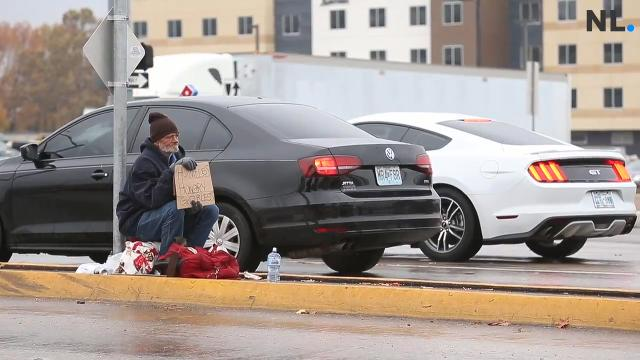 Homeless panhandler, subject of sheriff's post, speaks out