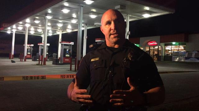 Springfield police are investigating a shooting at a gas station on East Kearney Street.