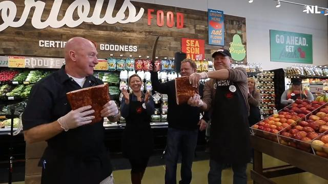 "Springfield's newest supermarket, Lucky's Market, celebrated its grand opening with a ""bacon-cutting"" instead of a ribbon-cutting. The new store also donated $10,000 to a pair of Springfield nonprofits."