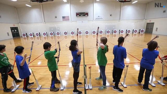 Springfield Public Schools held its first-ever archery competition for middle and high school students. About 700 students participated and shot at targets from 10 and 15 meters away inside a gym.