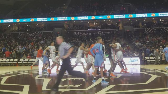 Wasatch's Damion Squire hits a 3/4 court shot at the buzzer to defeat Glendale 68-65 in the Bass Pro Tournament of Champions consolation bracket.