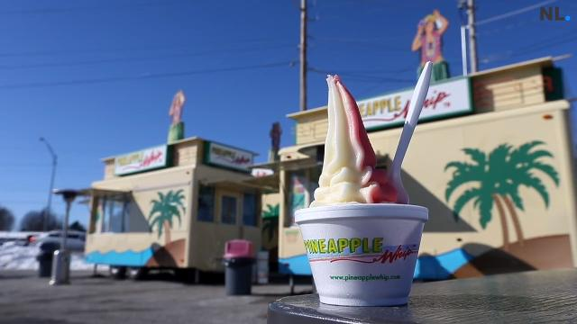 Pineapple Whip is open. There's still snow on the ground.