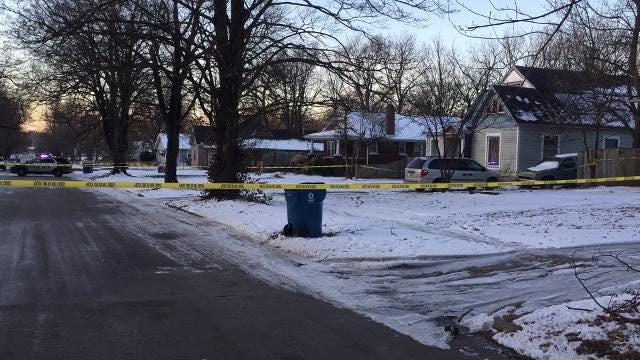 Police say a man was shot multiple times outside of a home in the 1400 block of North Clay Avenue on Friday, Jan. 19, 2018.