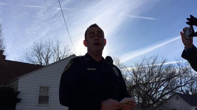 Lt. Robert Byrne briefs the media on a mini crime spree in Springfield.