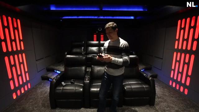 """Patrick Williams built a """"Star Wars""""-themed home theater inside his Nixa home."""