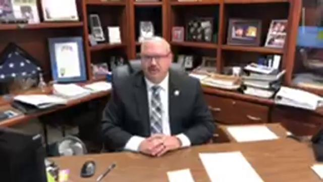 Sheriff Jim Arnott makes announcement