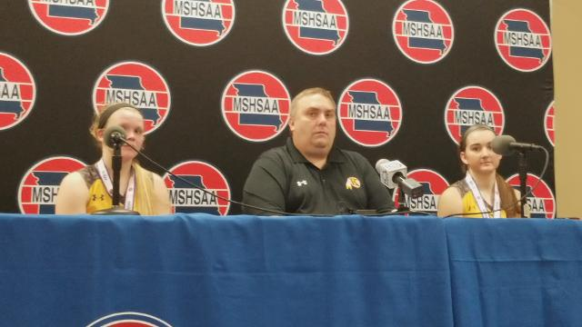 Kickapoo head coach Jim Pendergrass and seniors Hannah Collins and Jordan Wersinger talked to the media after Saturday's loss.