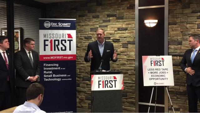 Eric Schmitt talks state loan program in Springfield