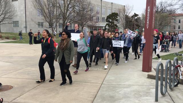Students protest at MSU