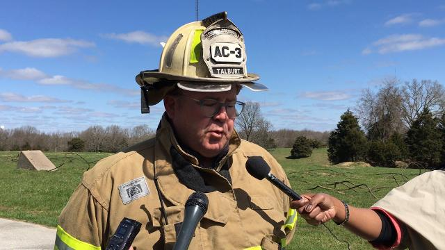 Logan-Rogersville Fire Protection District Assistant Chief Rob Talburt gave an update on the situation following a TV tower collapse near Fordland, with one confirmed death, on Thursday, April 19, 2018.