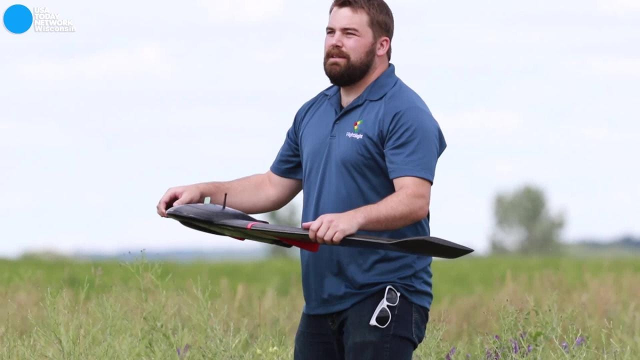 Joe Paul's New Lisbon-based firm FlightSight takes drone photos of farmland to help farmers improve their crops. It's part of a new wave of technology-based jobs in the agriculture sector.