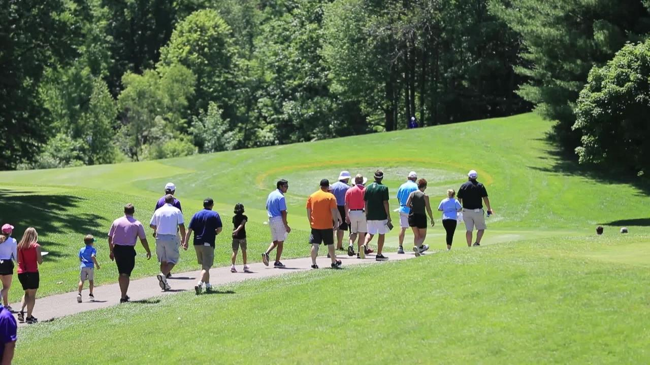 Several hundred volunteers from around North America staff the Thornberry Creek LPGA Classic in Hobart.