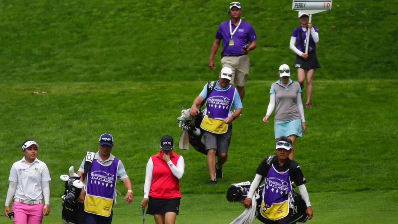 LPGA commissioner Mike Whan told Green Bay Press Gazette's Jeff Bollier of his views of the course and the Green Bay community of golf fans. (July 9, 2017)